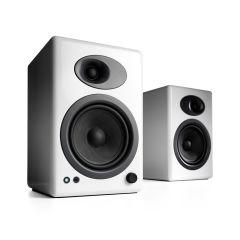 Audioengine A5+ Powered Bookshelf Speakers - Hi-Gloss White