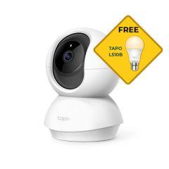 TP-Link Tapo C200 Pan/Tilt  Wi-Fi Camera Bonus Free L510B Light Bulb