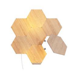 Nanoleaf Elements Wood Look Hexagons Smarter Kit - 7 Pack