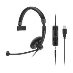 Sennheiser SPS-SC45USBMS IMPACT SC45 Mono USB Headset, USB/ 3.5mm Connectivity