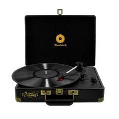 mbeat Woodstock Retro Turntable Record Player - Black