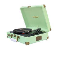 mbeat Woodstock 2 Tiffany Green Retro Turntable Player