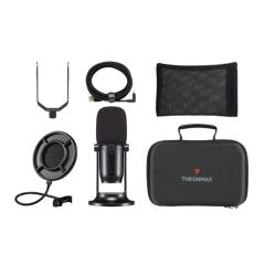 Thronmax MDrill One 48kHz USB Microphone Studio Kit - Jet Black